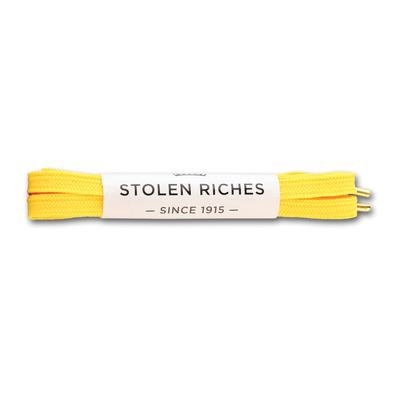 STOLEN RICHES- SNEAKER LACES IN HUCKLEBERRY YELLOW