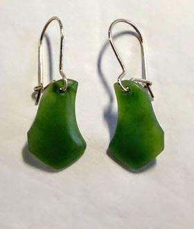 Kawakawa Greenstone Earrings S