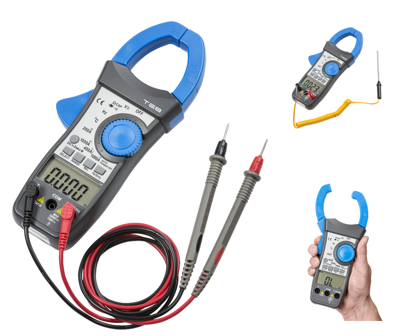 1000A CAT III DIGITAL CLAMP METER WITH DUAL DISPLAY