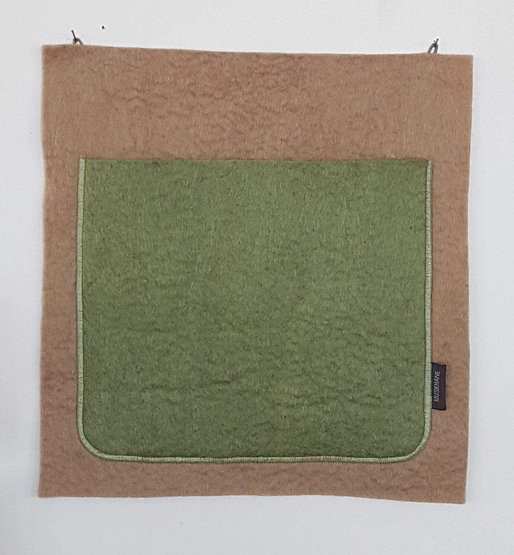 WALL POCKET SINGLE - CUMULUS TENDER GREEN