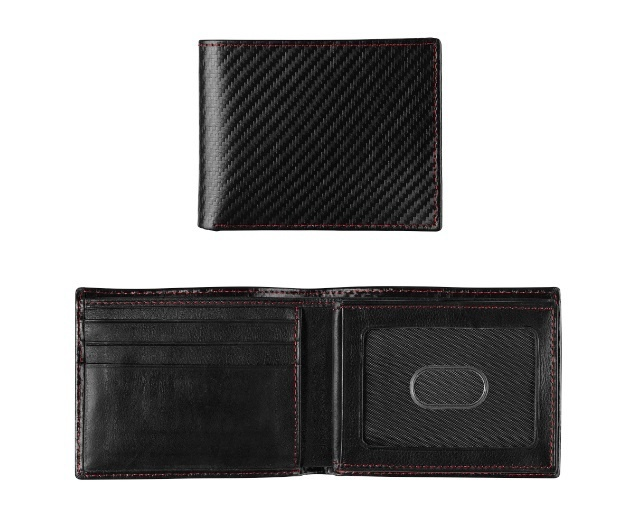 JOHNSTON & MURPHY - NYLON FLIP BILLFOLD WALLET IN BLACK
