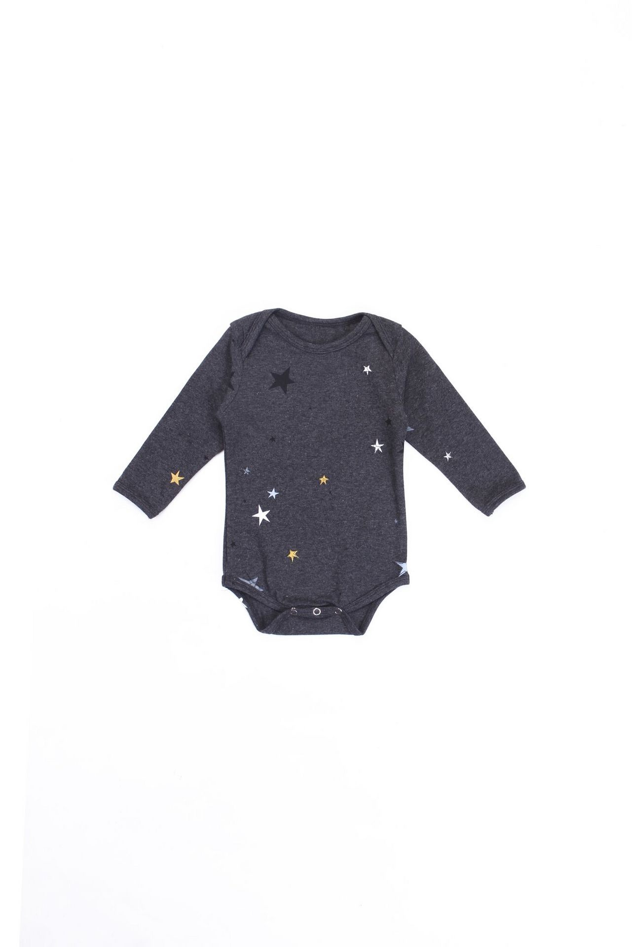 Alex and Ant Star Onesie Charcoal
