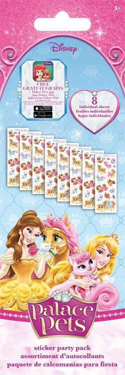 STICKERS PARTY PACK DISNEY PALACE PETS