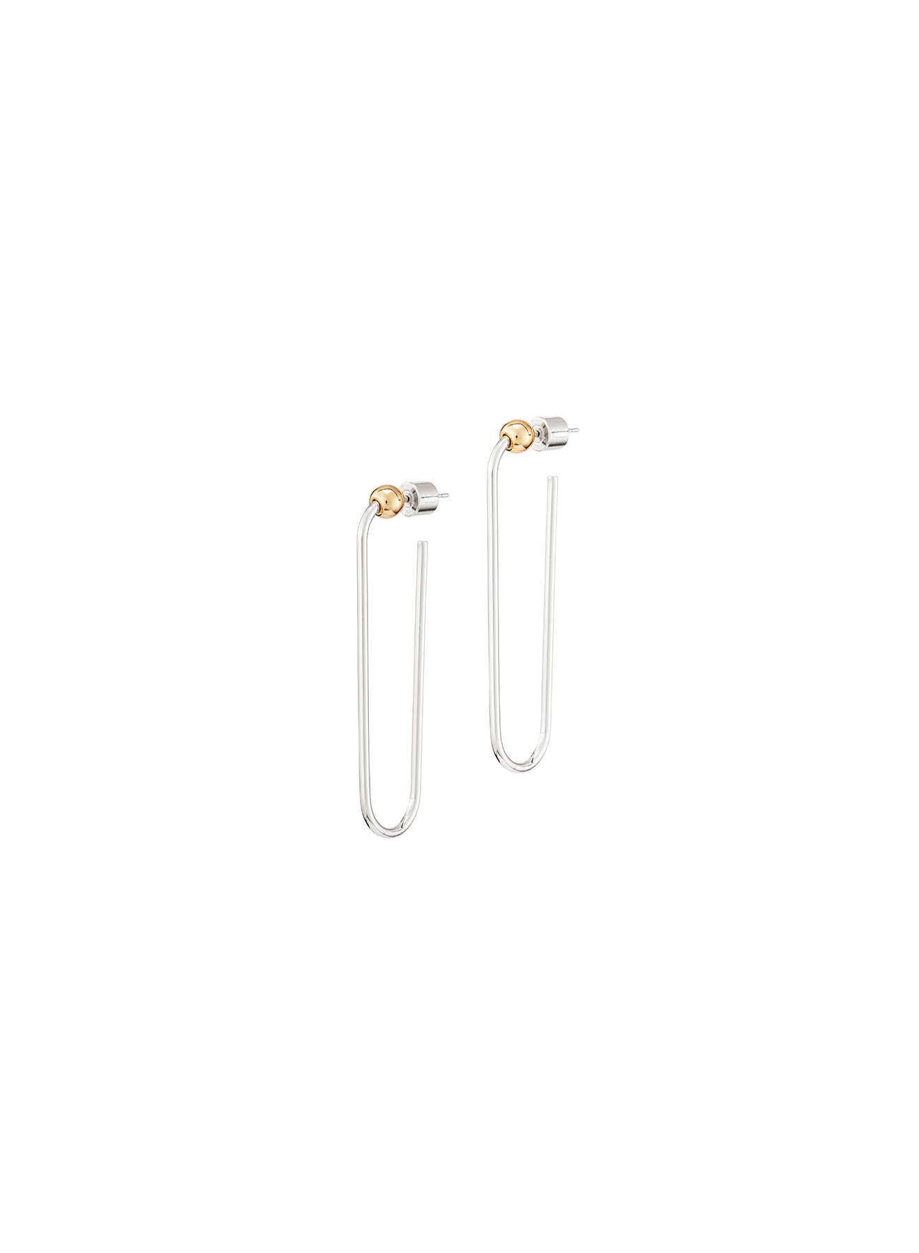 JENNY BIRD - ICON HOOPS LONG IN TWO TONE