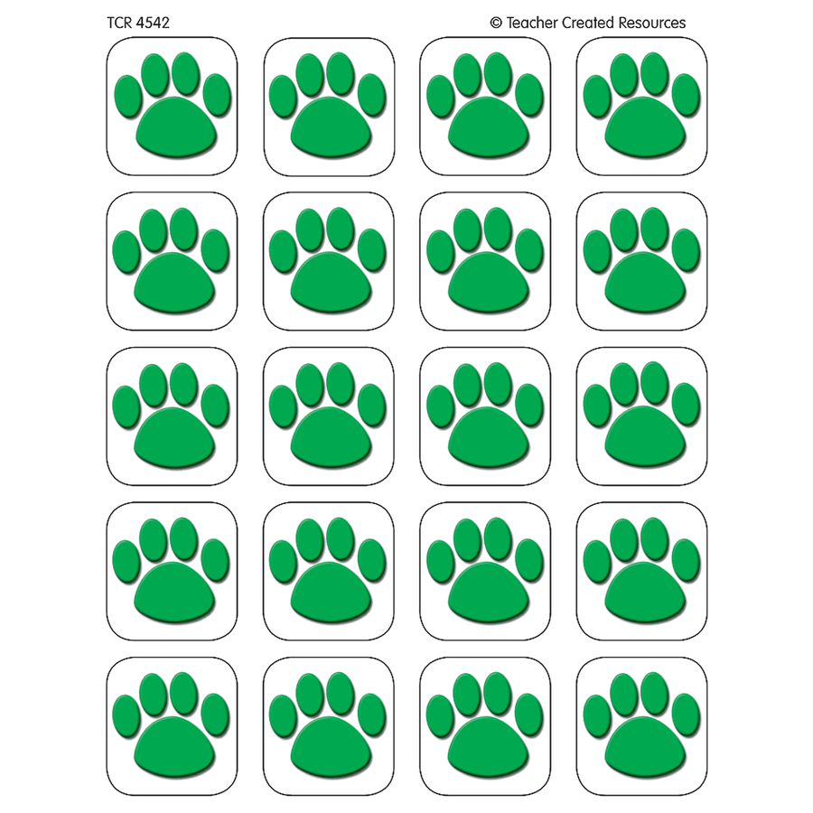 X DC TCR 4542 GREEN PAWS STICKERS
