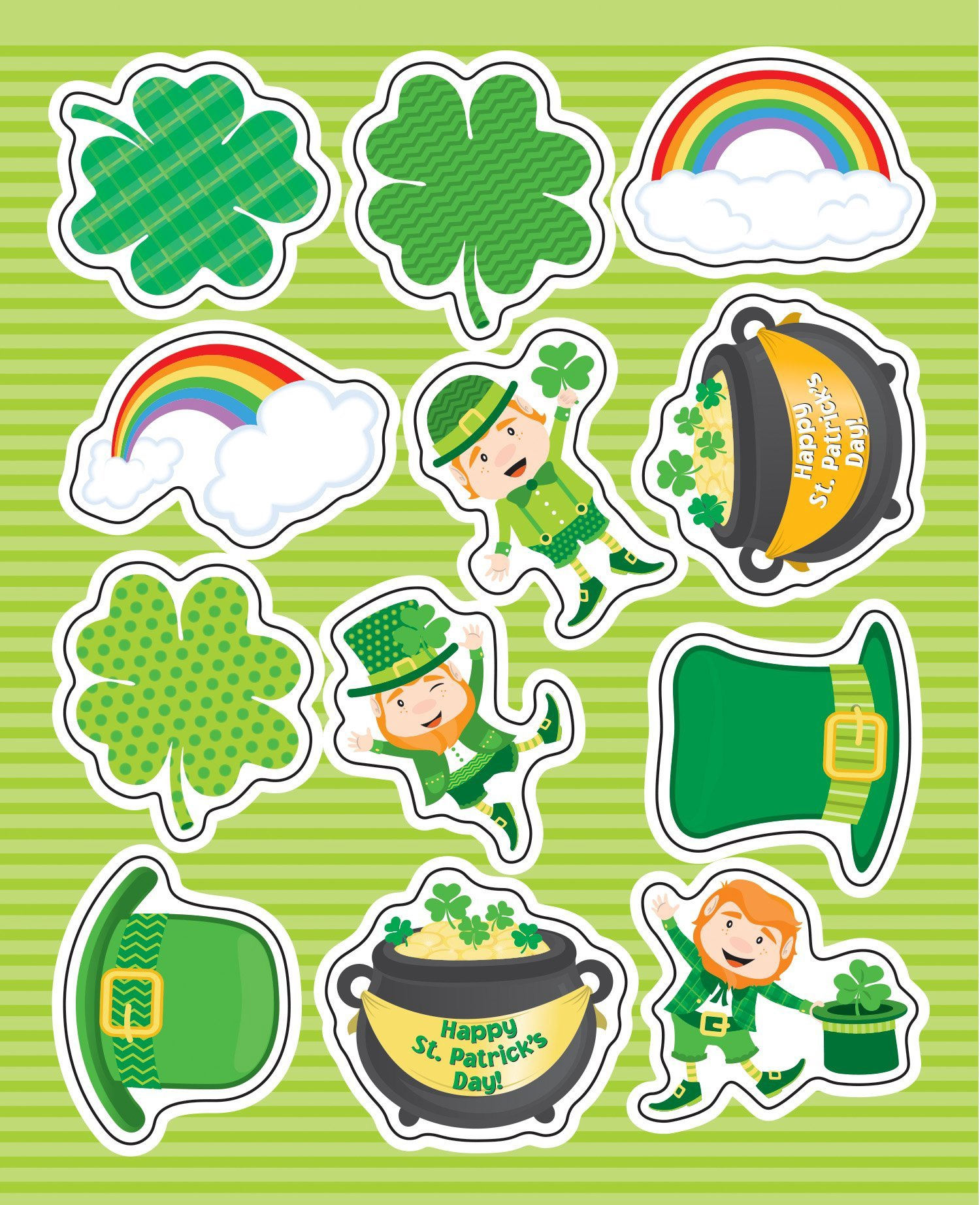 CD 168224 ST. PATRICK'S DAY STICKERS