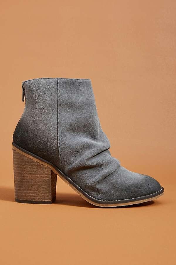 Zinna Suede Wrinkle Boot w/ Heel