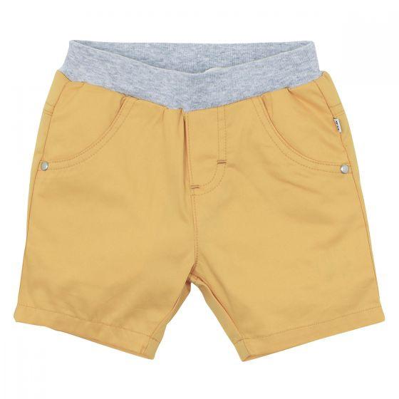 Bebe Dante Woven Twill Shorts Mustard