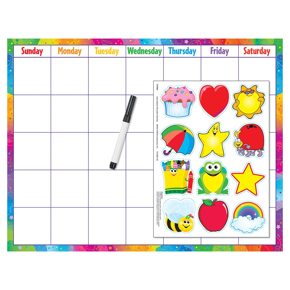 X DC T 27801 COLORSPLASH CALENDAR CLING KIT