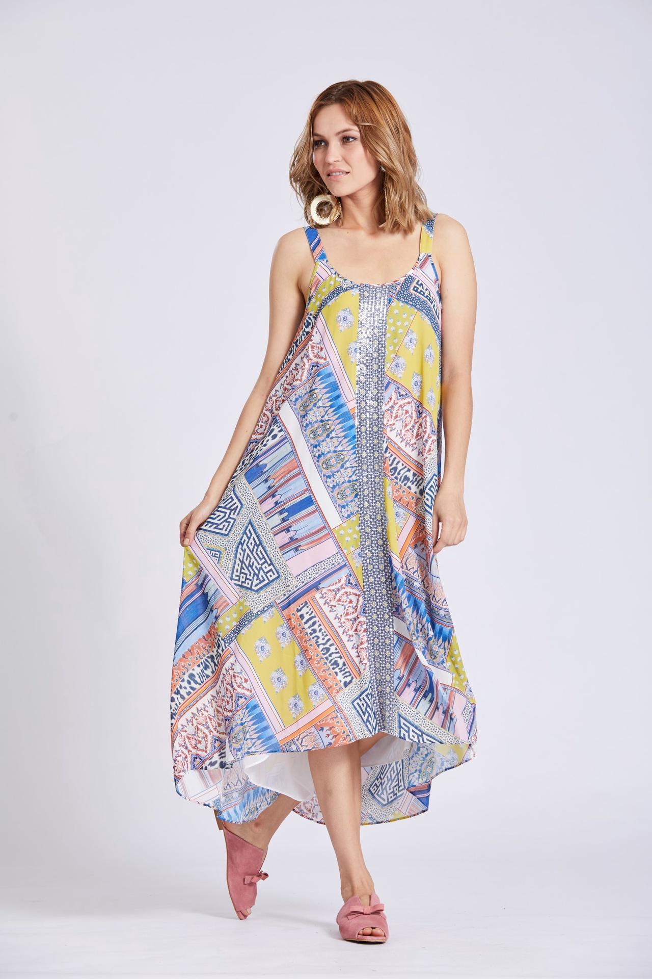 ls1370 St Tropez Midi Dress