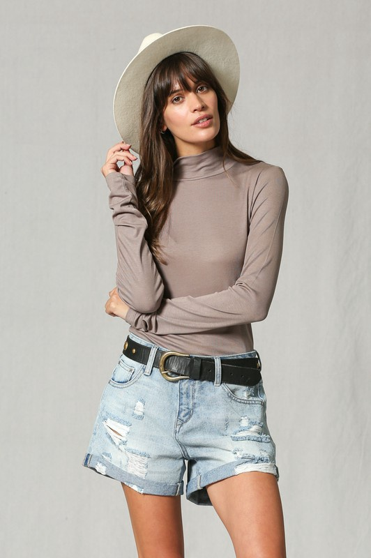 Long Slv Layering Turtle Neck