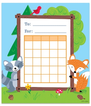 CTP 1724 WOODLAND FRIENDS STUDENT INCENTIVE CHART