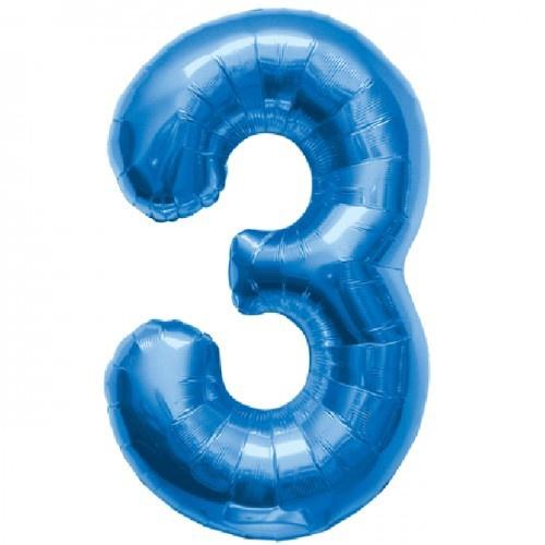 NUMBER 3 BLUE 34''