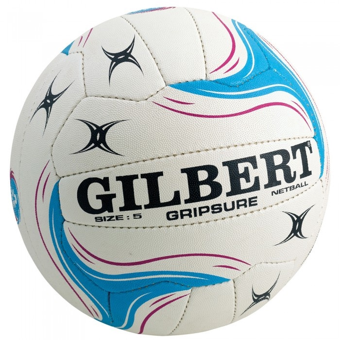 Gilbert Gripsure International: 2016 ANZ Champ Premium Quality Match Ball: White & Blue (size 5)