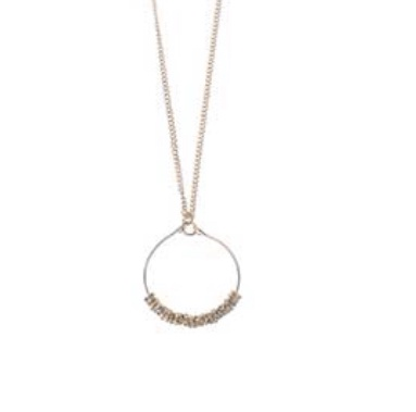 Gold hoop on short chain