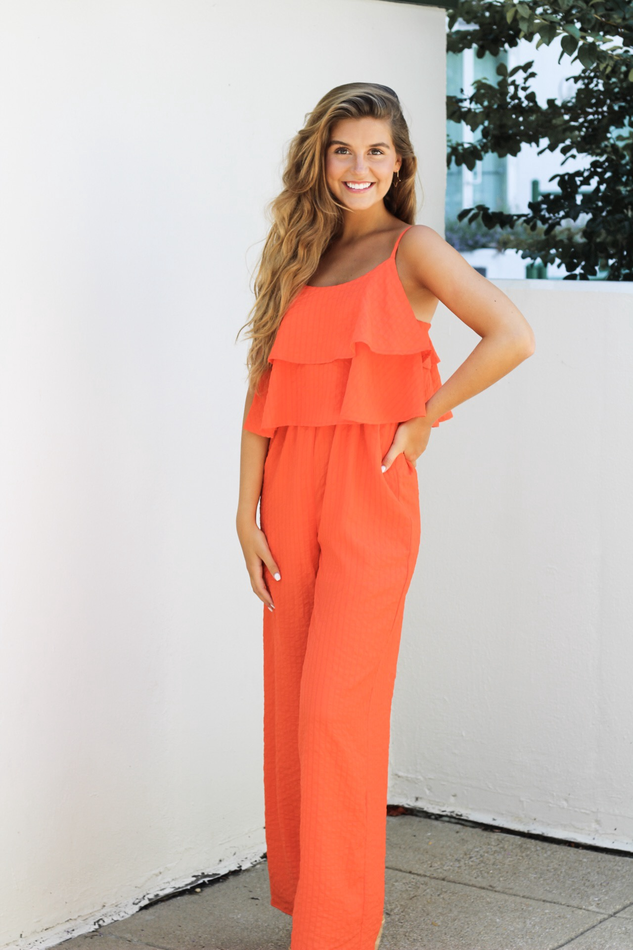 Org Jumpsuit w Overlay Top