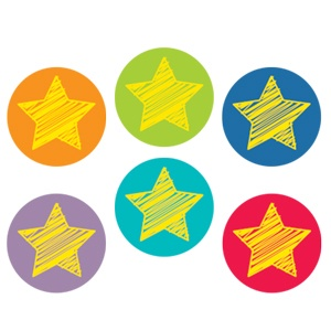 CTP 7146 BRIGHT STARS INCENTIVE STICKERS