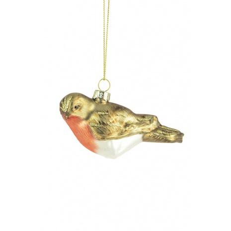 Glass Hanging Robin