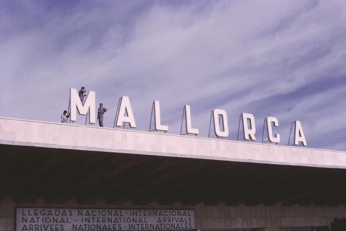 Mallorca Airport 1972 Negative