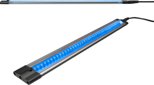 IP20 11W 144 LED THIN LINEAR LIGHT 24V BLUE 1000mm.