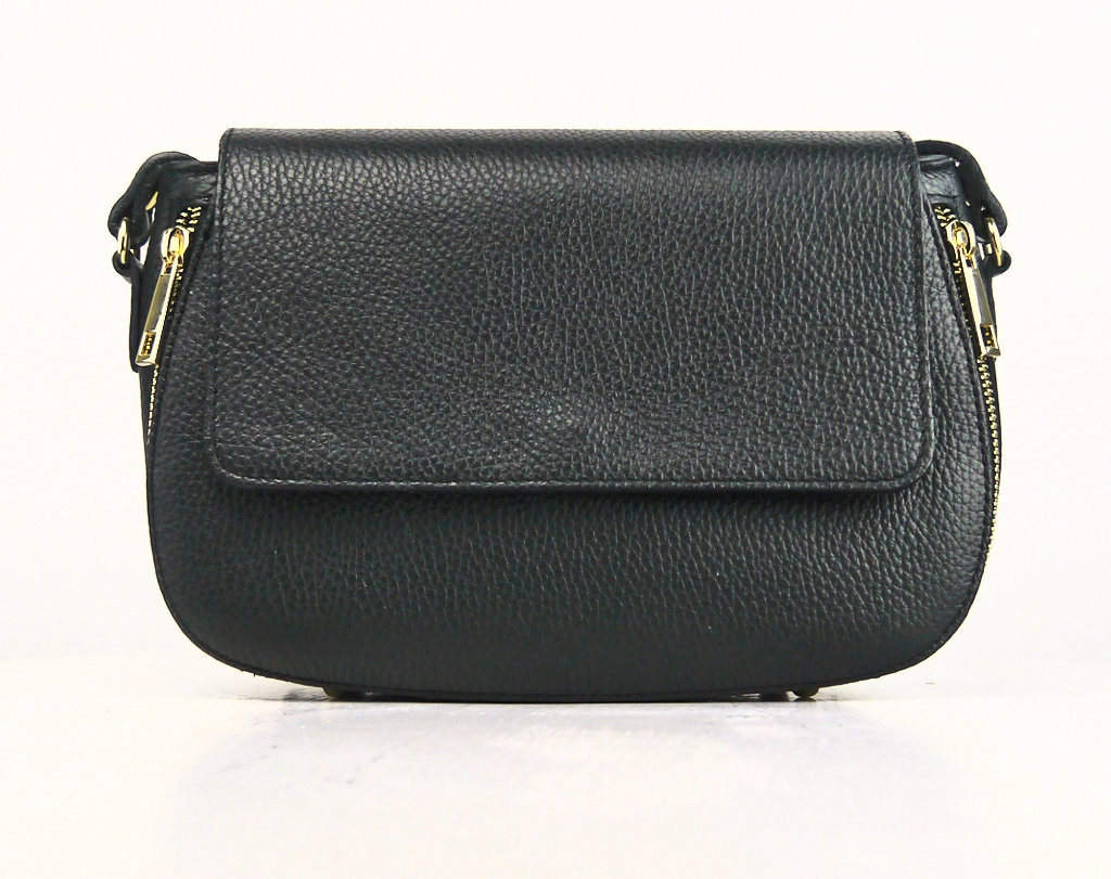 Leather Flap Cross Body Bag