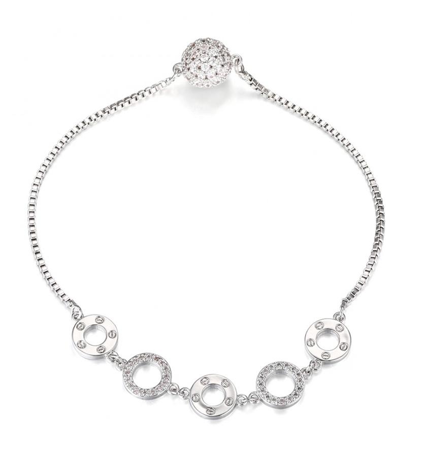 Silver platted circle bracelet
