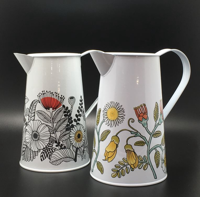 Metal Jug Flowers