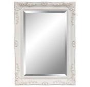 Large white ornate mirror