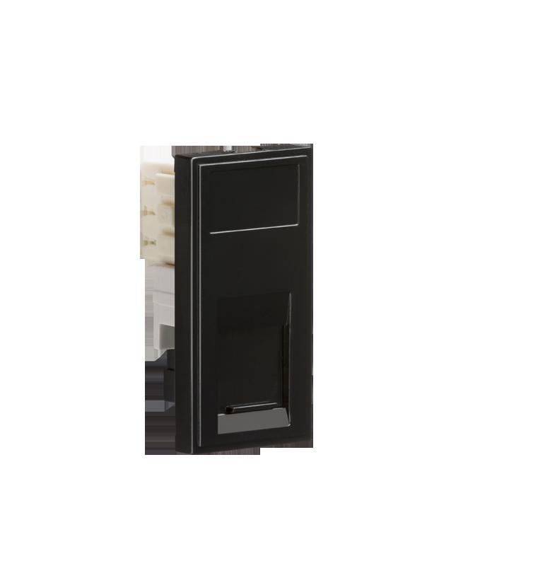Black Modular RJ11 Outlet