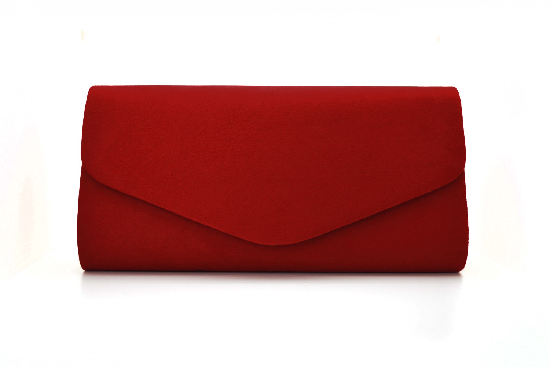 Lucy  suede envelope clutch