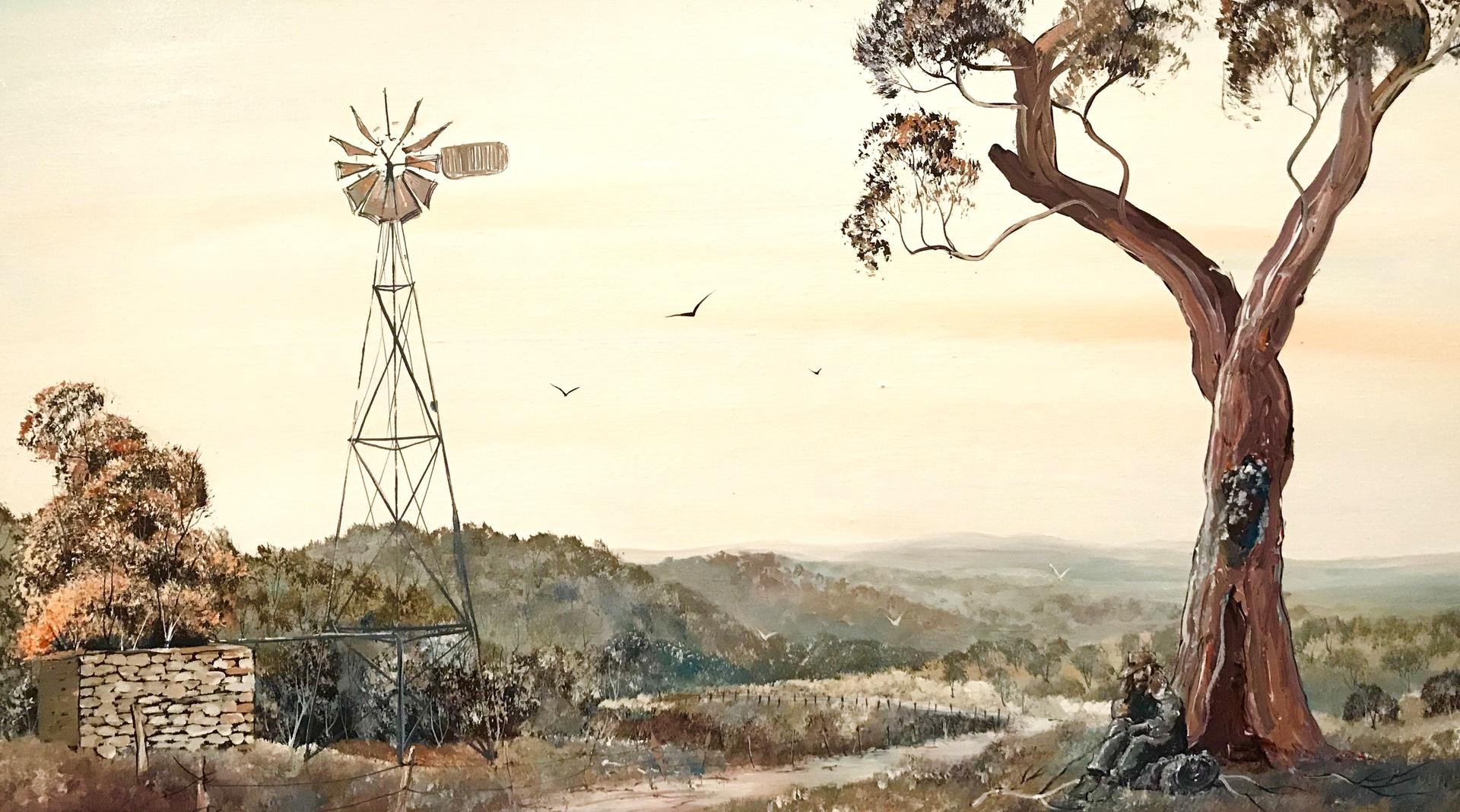 The life of a Swagman - Acrylic on Canvas