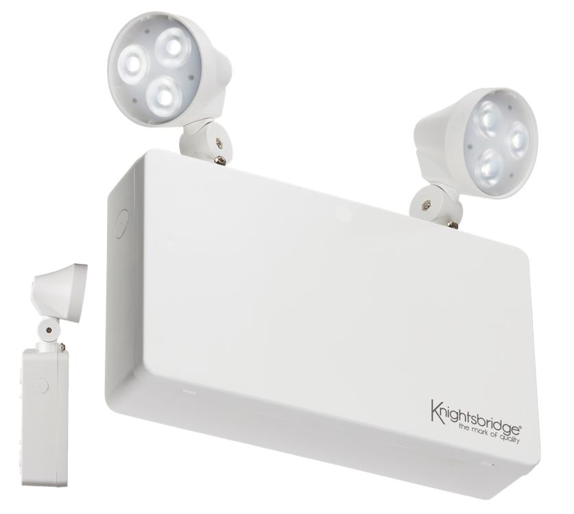 230V IP20 6W LED Twin Spot Emergency Light