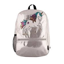 SLIVER SHIMMER SEQUIN UNICORN BACKPACK