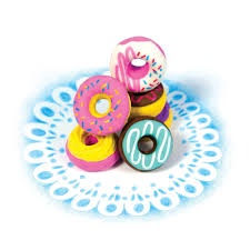 DAINTY DONUTS SCENTED ERASER SET OF 6