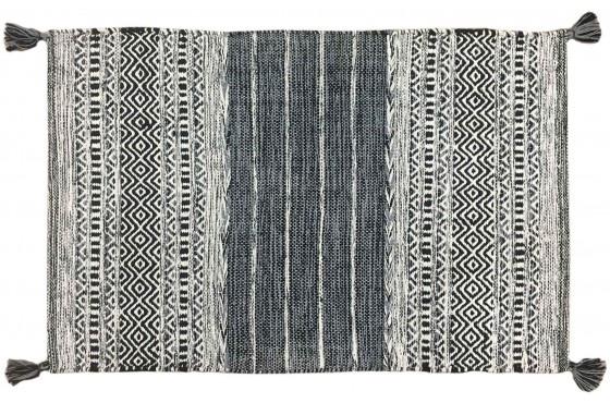 Mat Black & White pattern small
