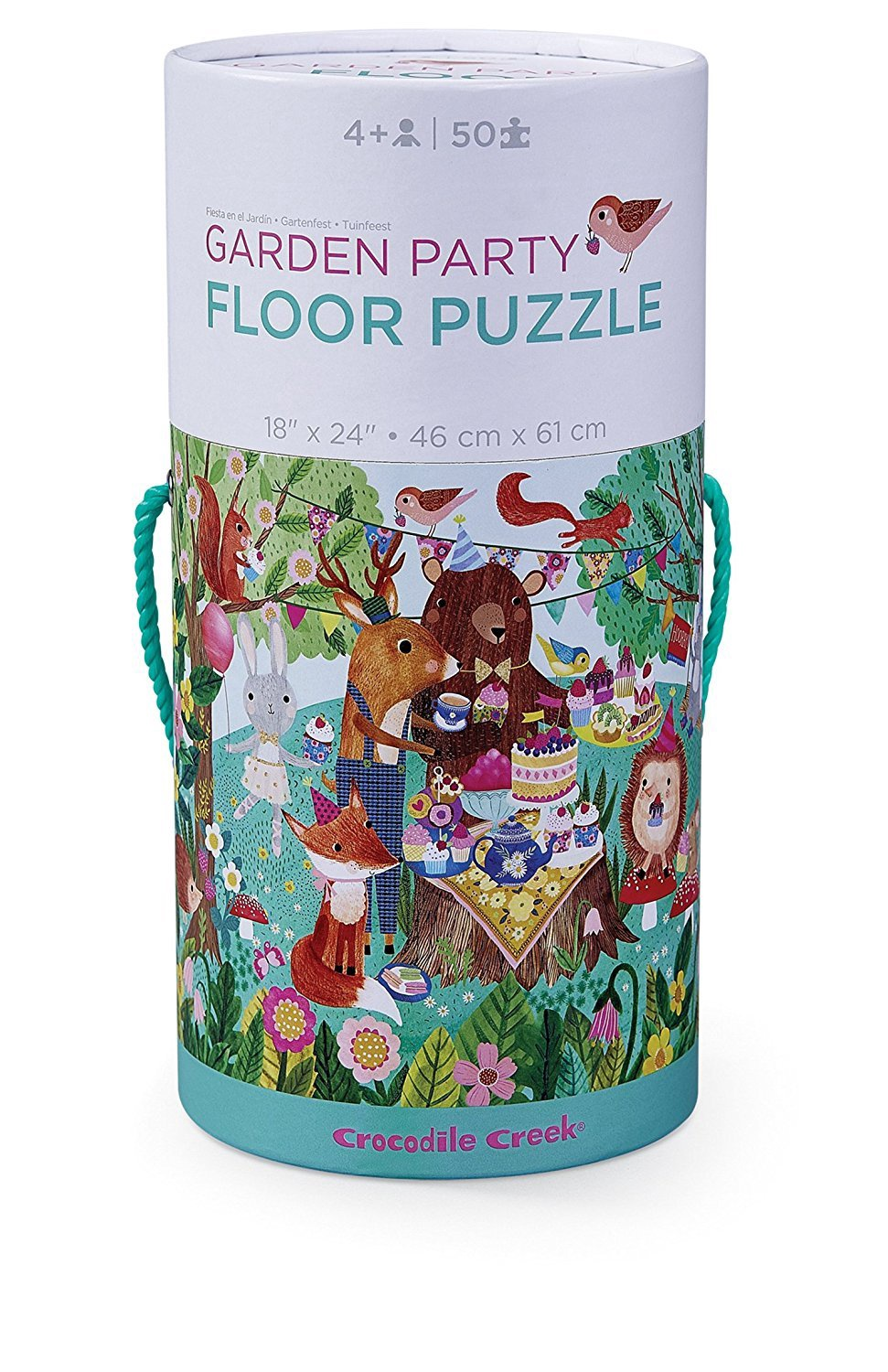 GARDEN PARTY FLOOR PUZZLE IN TUBE