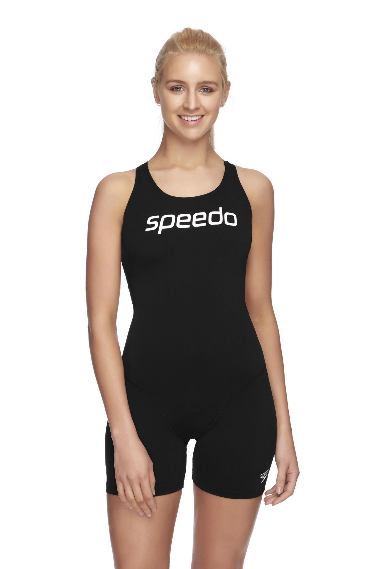 Womens Endurance+ Leaderback Sport Legsuit Black/White