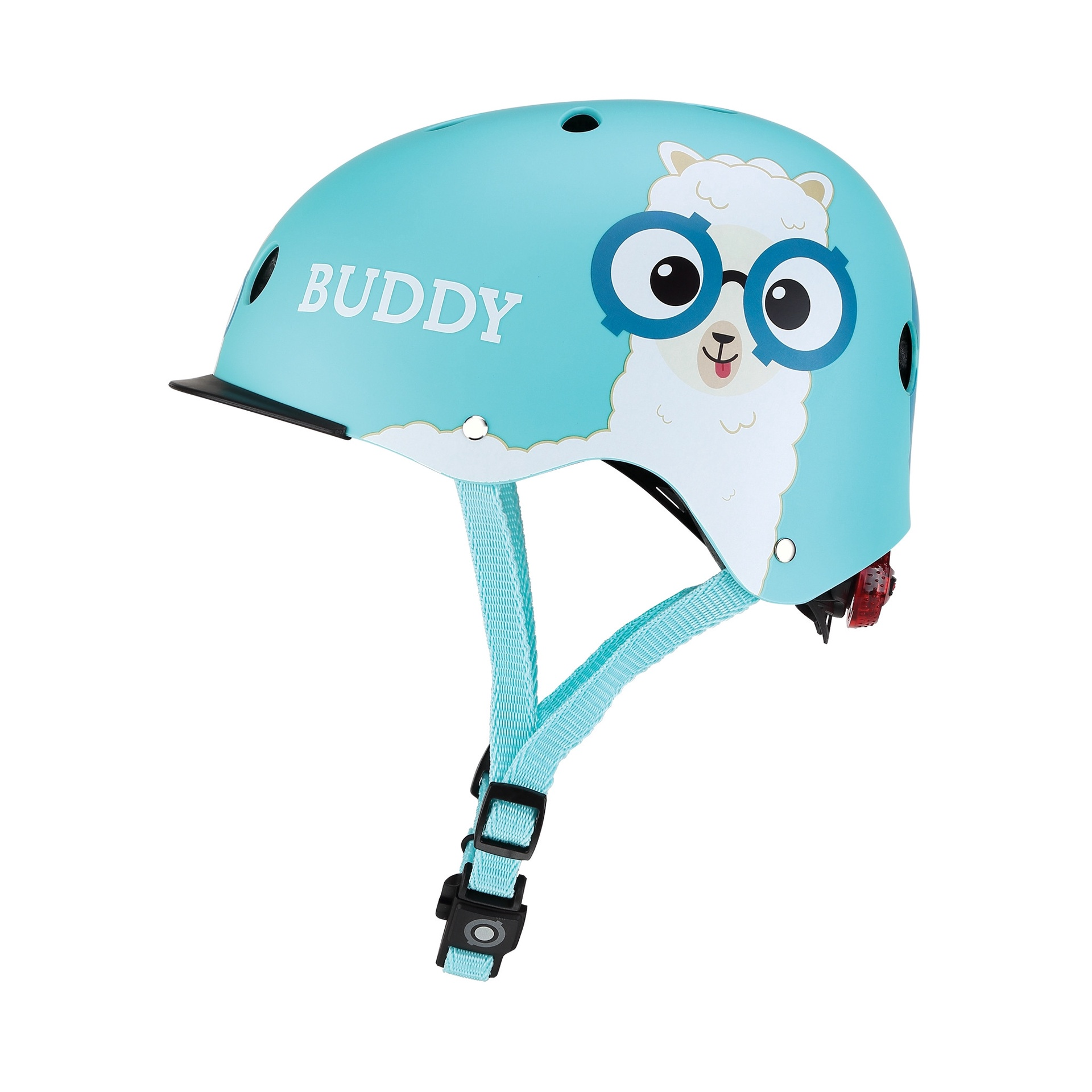 GLOBBER HELMET ELITE LIGHTS BUDDY BLUE