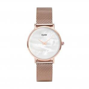 Cluse Watch CL30047 Miuite Pearl Face Rose Gold Mesh