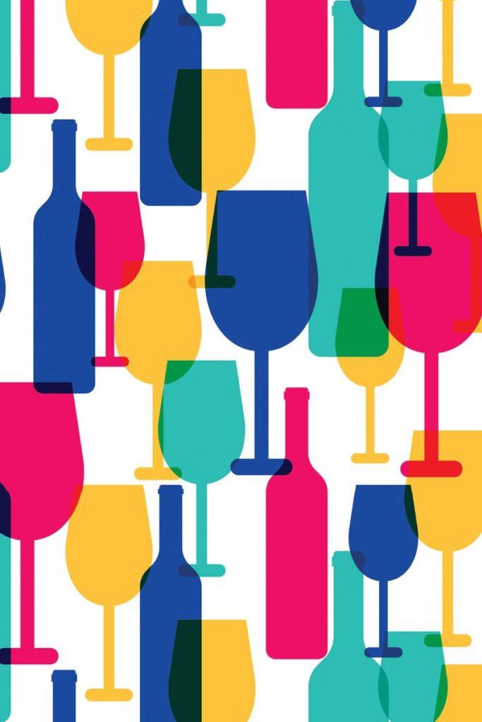 Tea Towel - Wine Glasses