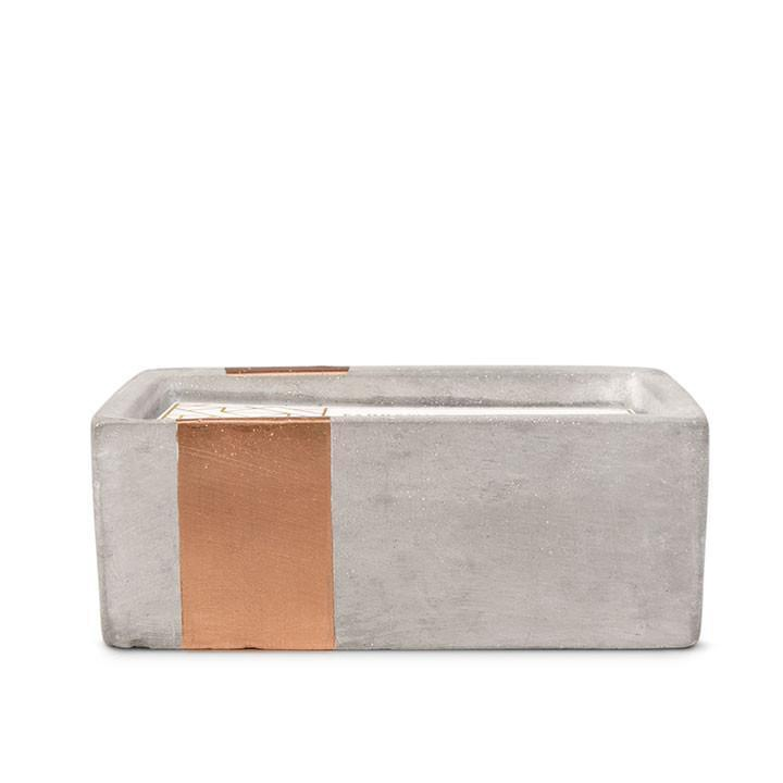 PADDYWAX - URBAN CONCRETE RECTANGLE 8 OZ CANDLE IN BERGAMOT AND MAHOGANY
