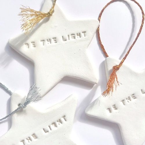 Be the Light Tassel Star Ornament