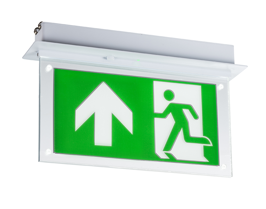 230V 2W Recessed LED Emergency Exit sign (maintained use only)