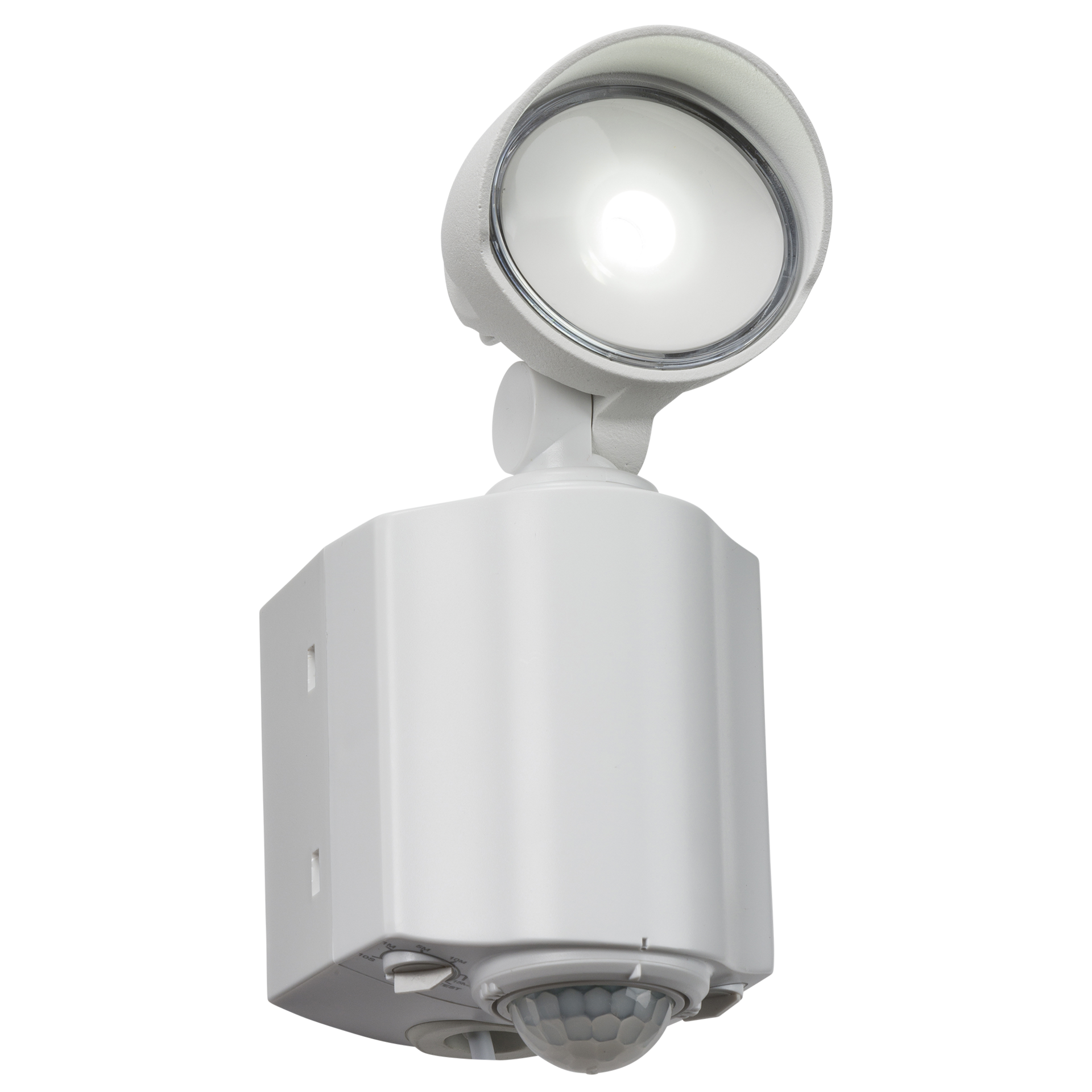 230V IP44 8W LED Single Spot White Security Light with PIR
