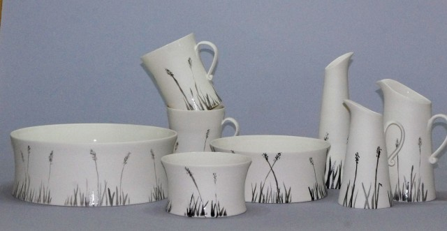 Black Grass Porcelain Mug