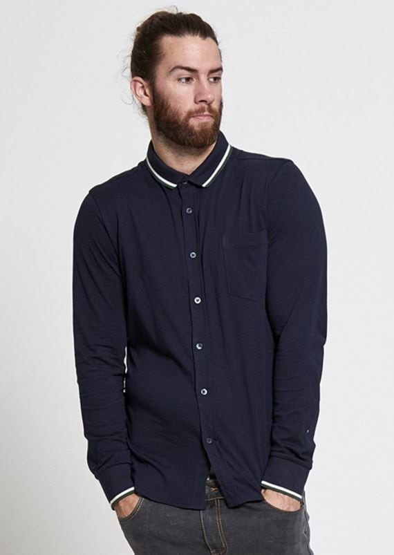 Menswear Shirt - Navy Classic Button Down