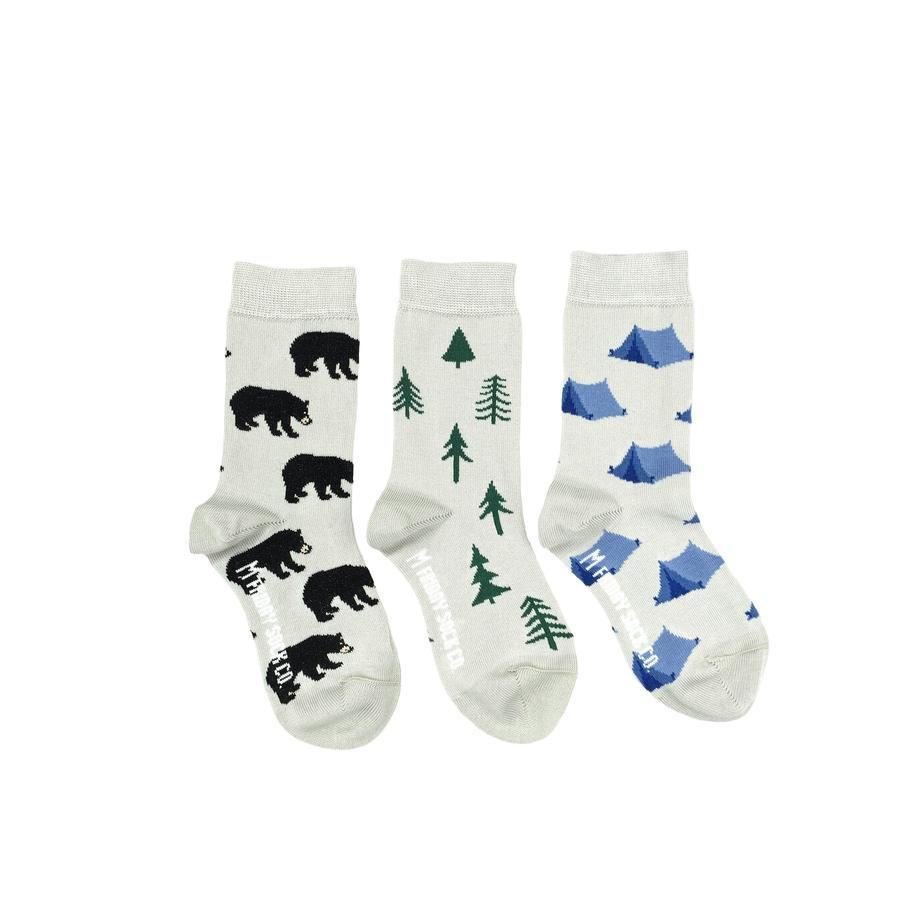 Kid's Tent Tree & Bear Socks
