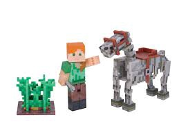 MINECRAFT ALEX WITH SKELETON HORSE