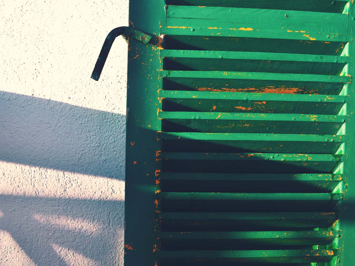 Sunset Green Blinds
