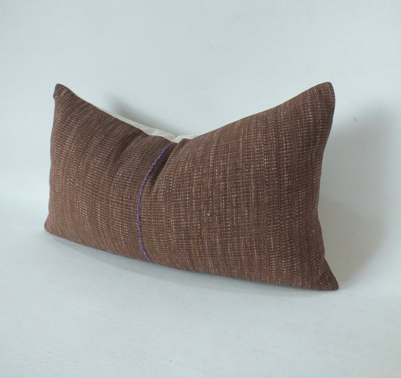 Burnt Orange Lumbar Pillow